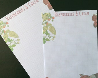 Raspberries and Cream Writing Paper Stationery