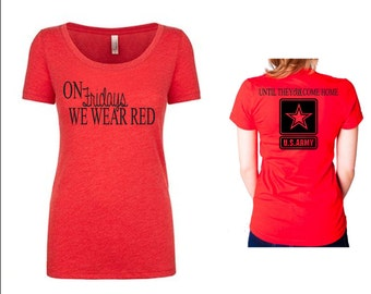 Army Red Friday Short Sleeve Tee