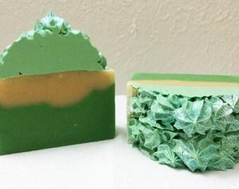 AVOCADO handmade soap with real avocado fruit/Vegan/All natural