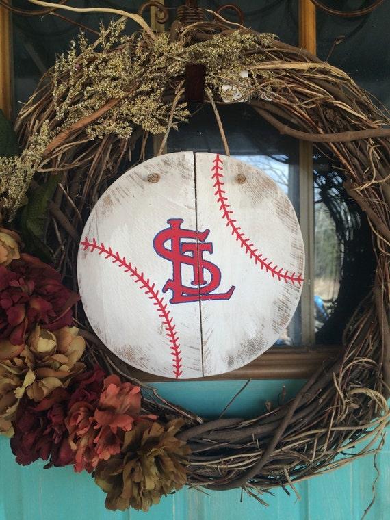 wooden baseball decor st louis cardinals door decor. Black Bedroom Furniture Sets. Home Design Ideas