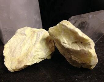 Sulfur-Brimstone- Rough stone-Large Speciman-Fire elemental