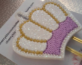 Lilac and Gold Crown Paper Clip