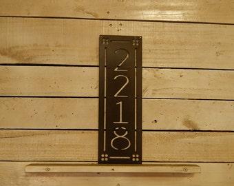 Vertical Decorative House Number, Metal Number, Door Number, Square Decoration, Metal, Address Number, Sign, Mailbox House Sign, HN1100