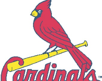 St. Louis Cardinals -- Counted Cross Stitch Chart Patterns, 3 sizes!