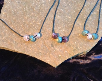 Purple/Pink and Teal Necklace