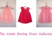 The Little Darling Dress Collection - Knitting Pattern E-Book - Baby girl to age 6 - Instant Download PDF