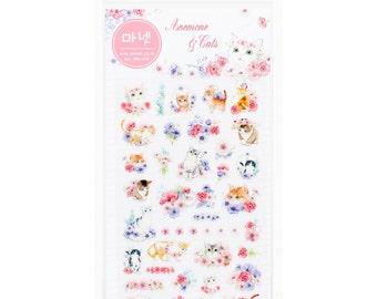 Adorable Korean Cat stickers- Cute Cat Planner Deco Sticker