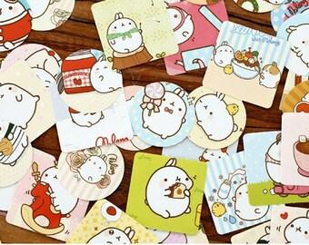 Kawaii MOLANG Flake Stickers Pack 46 pcs