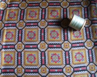 vintage patterned silk dressmaking fabric