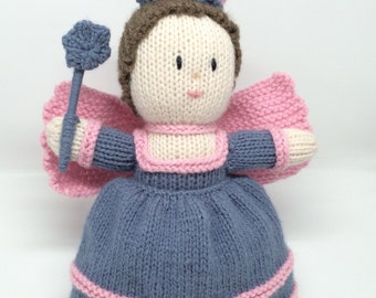 Knitted doll Angel/Fairy Soft toy. Handknitted.