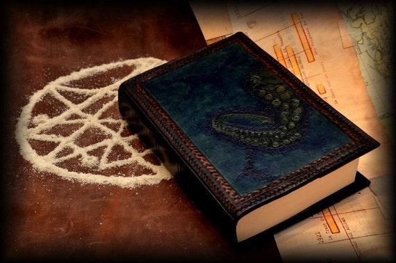 tentacle handmade leather book binding