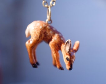 Deer Ceramic Necklace