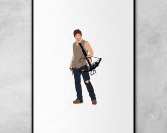 The Walking Dead | Daryl Dixon | Norman Reedus | Minimal Artwork Poster