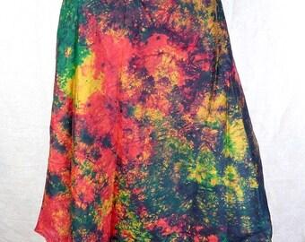 SKIRT HIPPIE Gypsy large size tribal silk Holly hippie boho 36/46 wj3 bobo