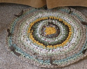 Cowboy Country Chic* Rag Rug*