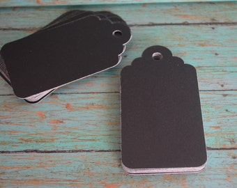 50 Chalkboard Tags, gift favor tags, tags