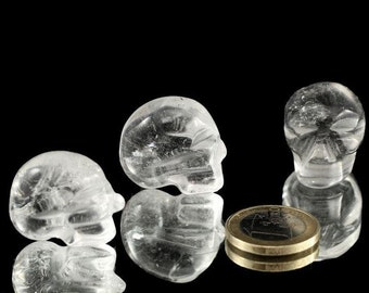 Mini crystal skulls made from genuine rock crystal