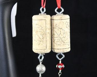 Wine Cork ornament (set of 2)