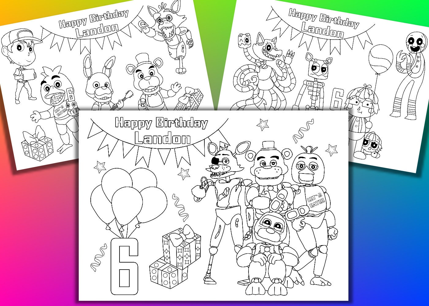 It is a photo of Old Fashioned Five Nights at Freddy's Coloring Pages Printable