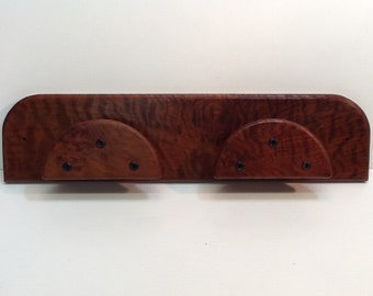 Very Rare Curly Redwood Double Bridle Halter Rack Equestrian Gift Horses