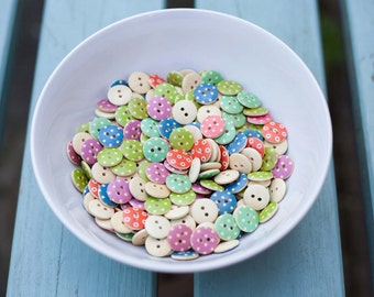Spotty Wooden Buttons