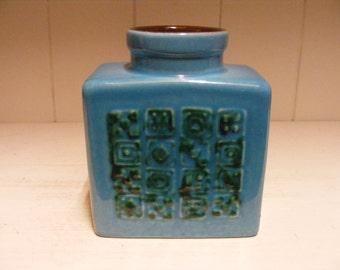 Blue Carstens Fat Lava vase