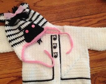 zebra sweater set