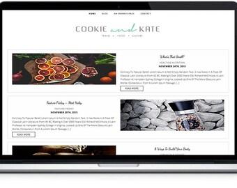 Cookie Blog Theme,food and travel blog theme, Responsive Wordpress Theme, photographer Blog Theme, Cooking website, Feminine Wordpress theme