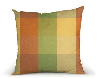 OUTDOOR Pillow cover, decorative cushions in Sunbrella Ombrelle Orange, Sunbrella fabric