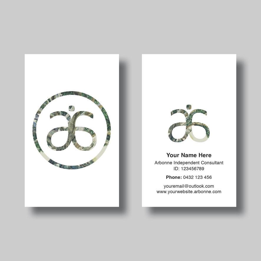 Arbonne Business Card Simplicity Circle Digital Design