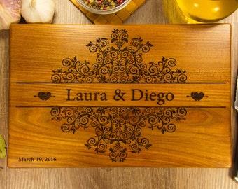 Engraved Cutting Board Wedding Gift, Personalized Cutting Board, Wood Engraved Board, Custom Cutting Board for wedding Personalized Engraved