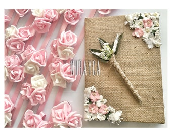 Guest book and pen, memory book and pen, bridal guest book and pen, wedding guest book and pen, wedding guest book pen, wedding pencil