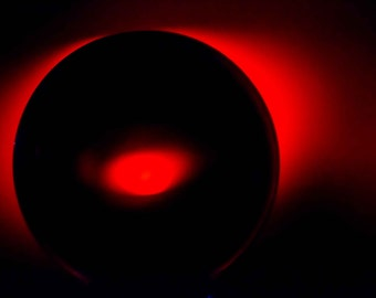Red and Black Light Abstract Photograph