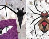 PATTERN BUNDLE - Midnight Bite & Wicked Weaver Paper Pieicing Patterns - PDF Format