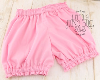 Little Girl/Baby Girl Pink Bubble Shorts, Pink Bubble Shorts, Summer/Spring Bubble Shorts, Summer/Spring Bloomers