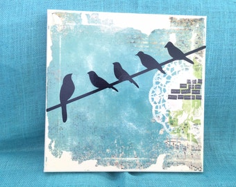 Bird on a wire wall hanging