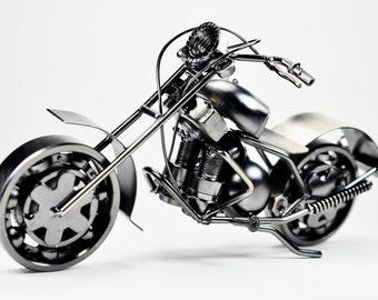 Metal sculpture -Retro Classic Handmade Iron Motorcycle Model GTO1A unique metal art decor - home décor