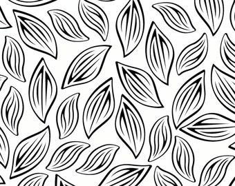 Pillow Sham, Leaves Pillow, Pattern Bed Pillow, Floral Pillowcase, Pillow Cover, Black White Sham, Leaf Pillowcase, Standard Size Pillow