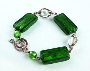 Bracelet bracelet, copper, green, green