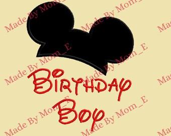 Mr Mouse Ear Topper - Birthday Boy