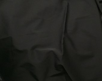 "Black Heavy Weight Stretch fabric, an incredible weave with body and drape, Sold by the Yard, 42"" Wide"