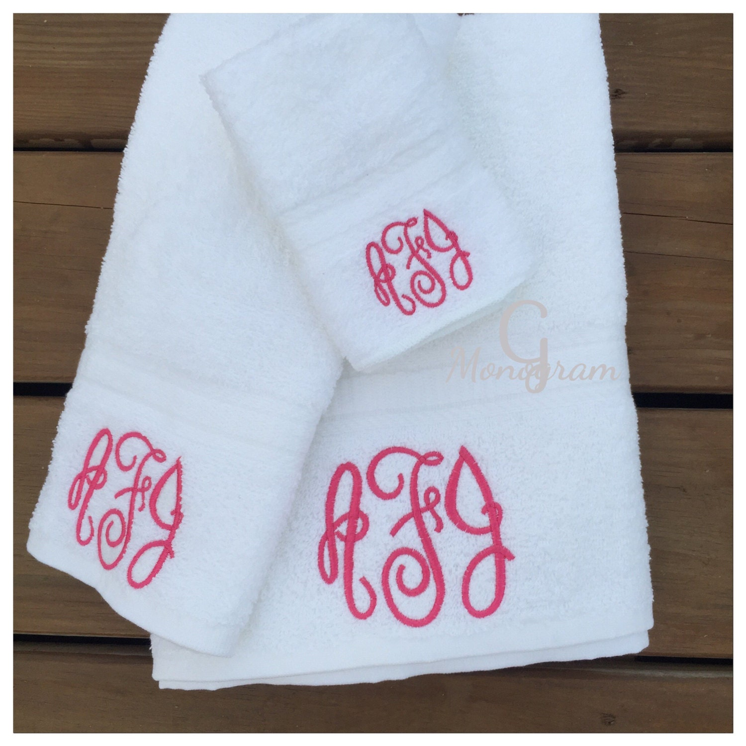 Monogram Towels For Bathroom
