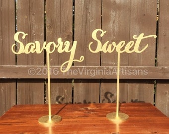 Savory and Sweet Buffet Signs - Set of Two - Buffet Signage - Elegance Line.