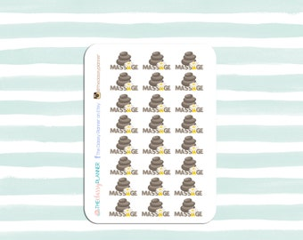 MASSAGE Hot Rocks   stickers for your planner