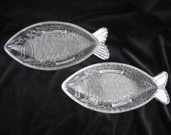 Ankerglas Bernsdorf (German Company) Fish Shaped Shallow Bowls (2)