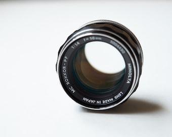 minolta mc rokkor-pf 58mm f1.4