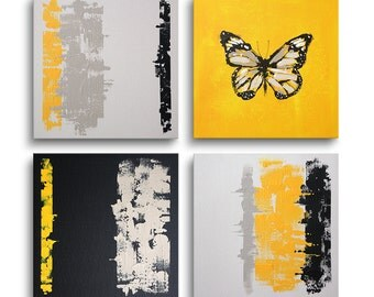 Modern Abstract Painting Set of 4