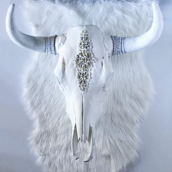 White Willow Rhinestone Steer Skull Cow Skull Animal Head