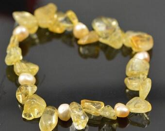 Sale: Citrine Bracelet , Gemstone bracelet  - GW1013