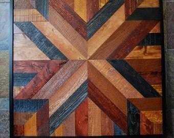 Reclaimed Wood Art, Reclaimed Wood, Reclaimed Wood Wall Art, Reclaimed Wood Decor, Wood Wall Decor, Wood Decor, Star Quit Design Wall Art
